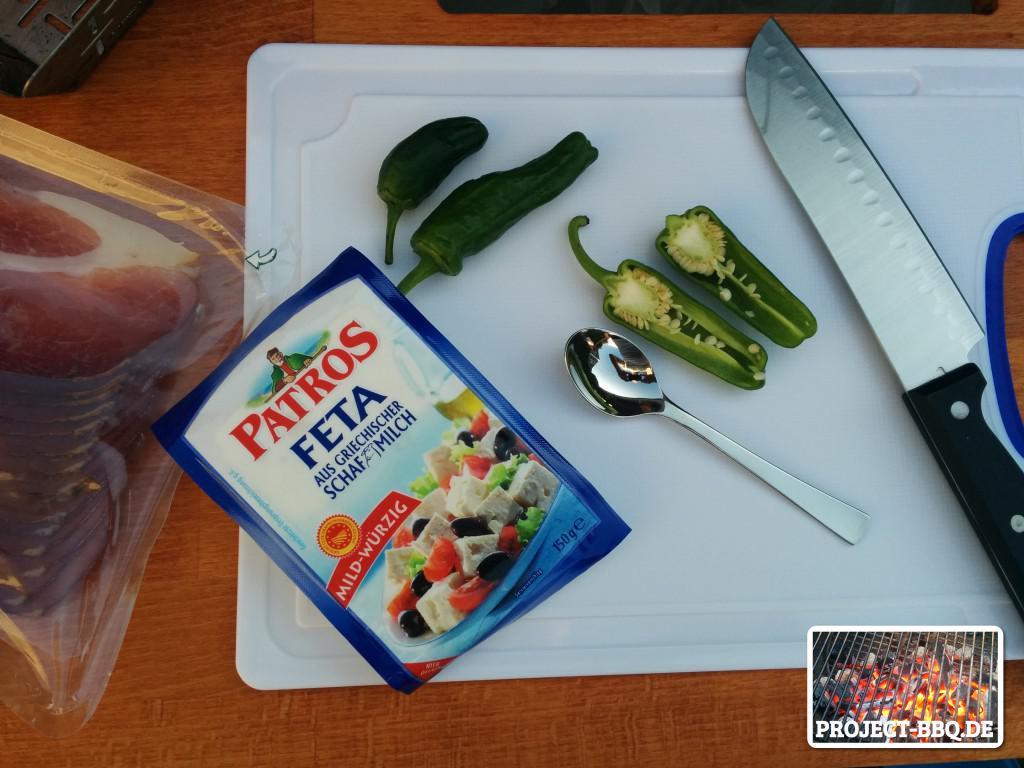 Zutaten für Paprika-Wraps