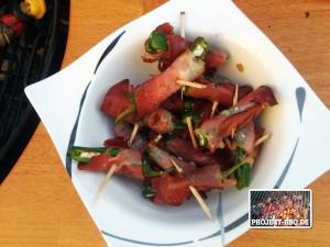 Die fertigen Paprika-Wraps