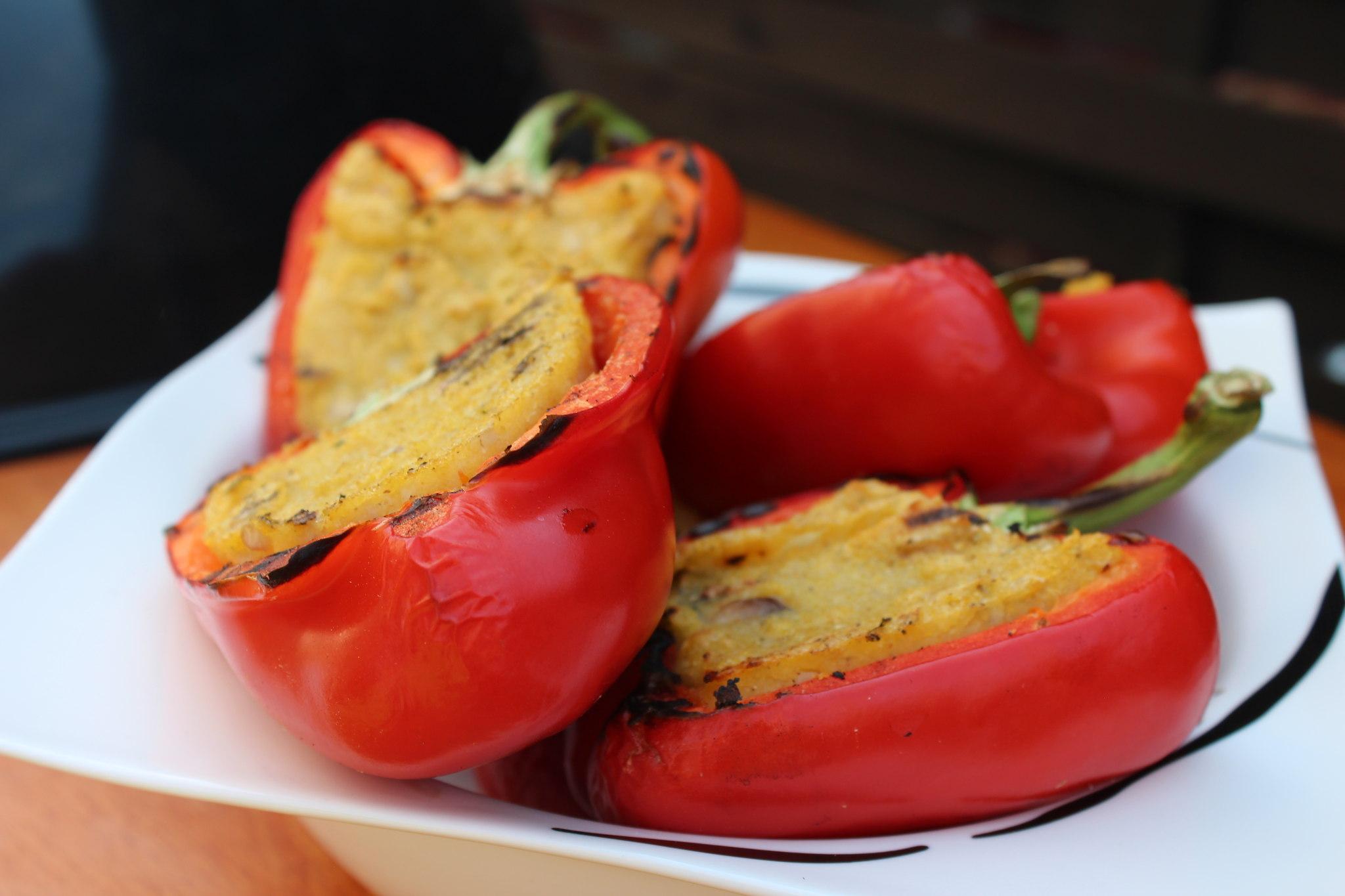 Fertige Polenta-Paprika