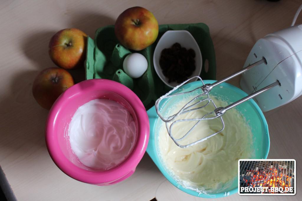 Zubereitung Käsekuchen-Füllung