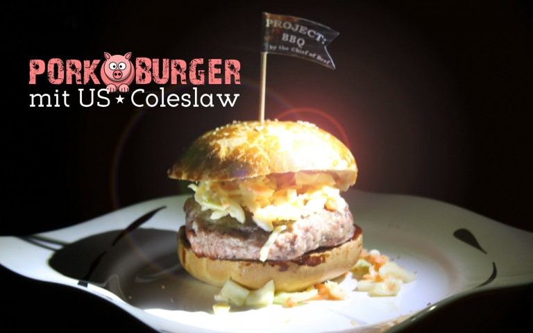 Pork Burger mit US Coleslaw