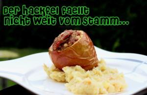 Hackfel auf Kartoffelstampf