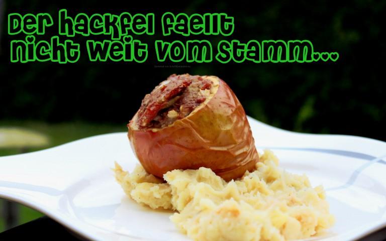 Der Hackfel: Gefüllter Apfel mit Ingwer-Schweinehack