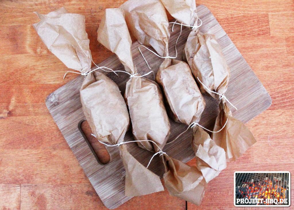 Verpackte Käsebonbons