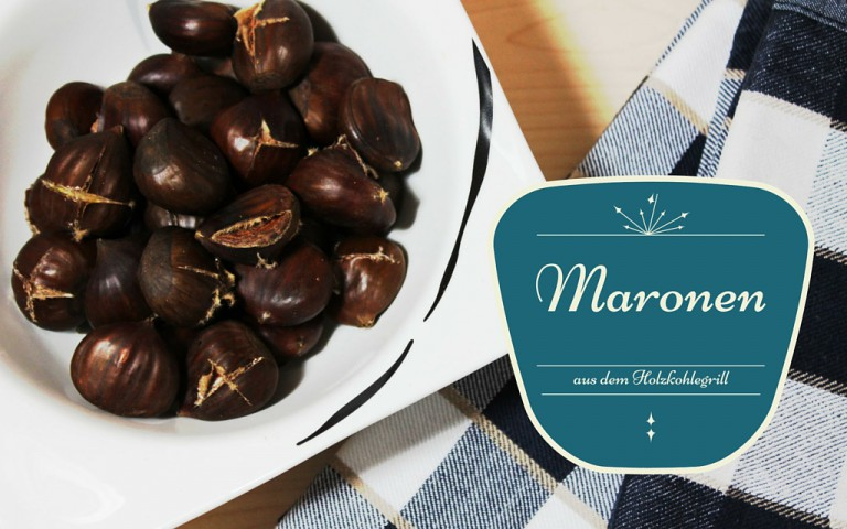Frische Maronen vom Grill