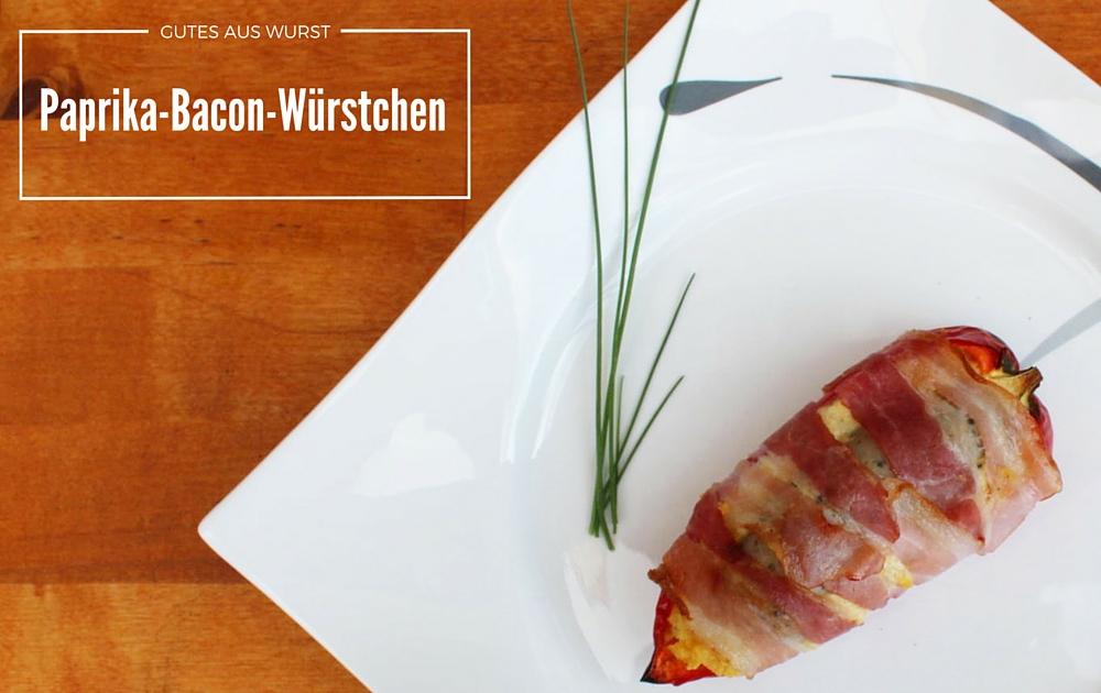 Paprika-Bacon-Würstchen