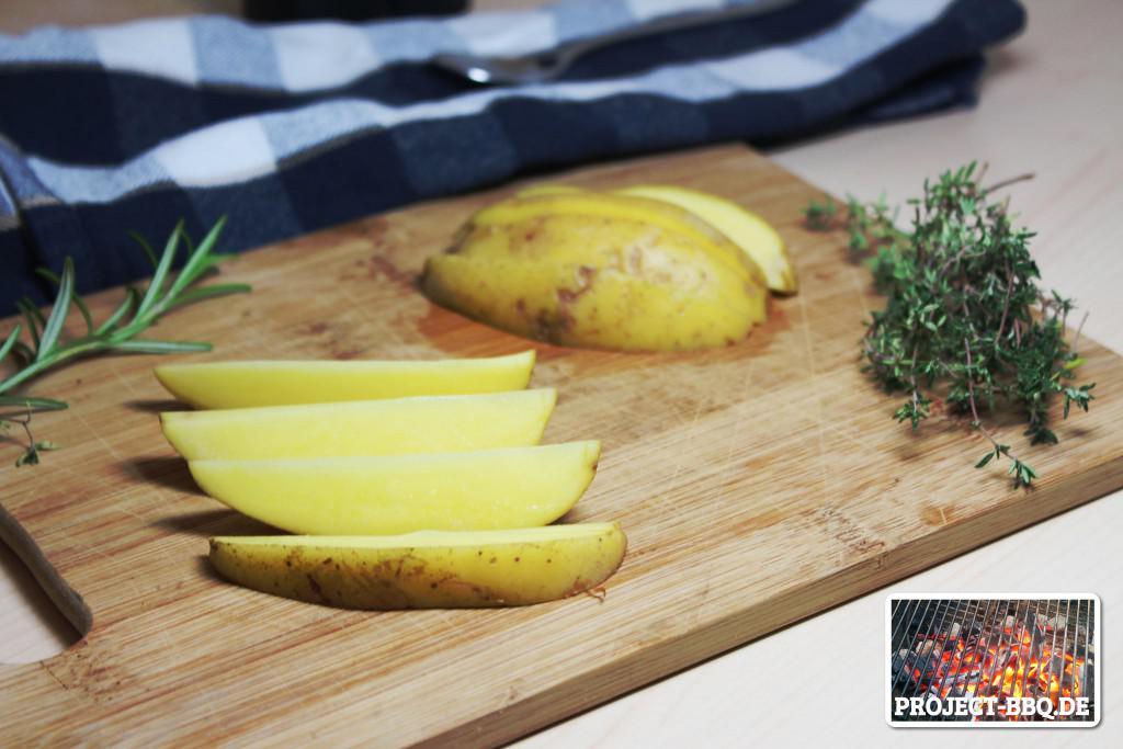 Kartoffeln achteln