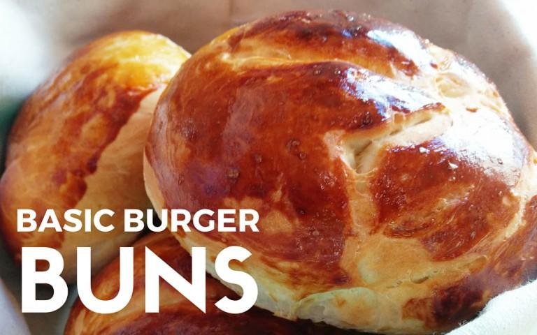 Selbstgebackene Burger-Brötchen – Basic Burger Buns