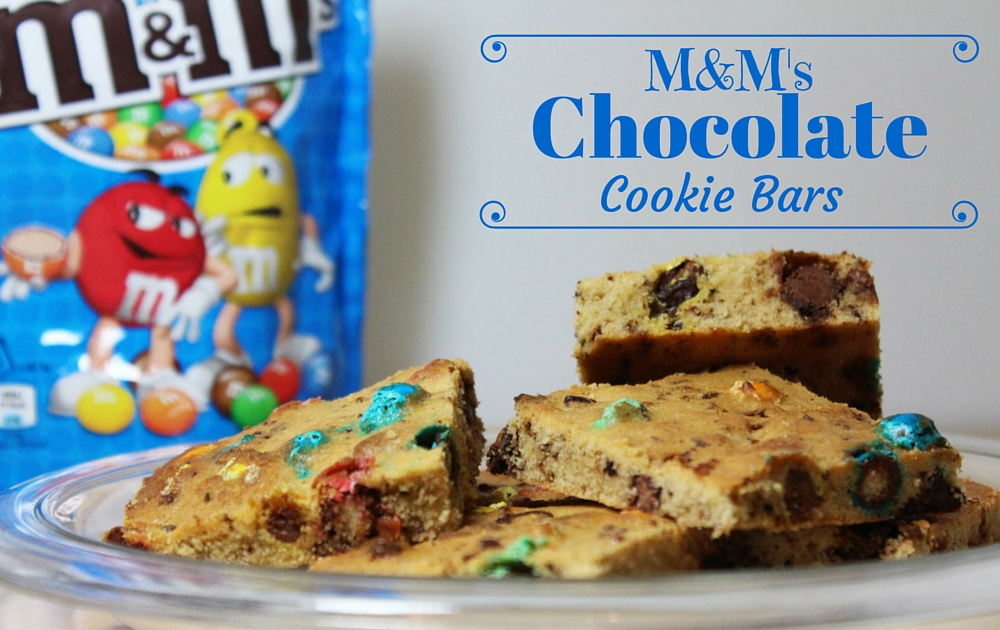 M&Ms Chocolate Cookie Bars