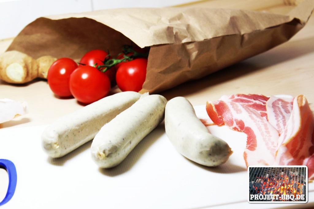 Zutaten für Sausage Shots