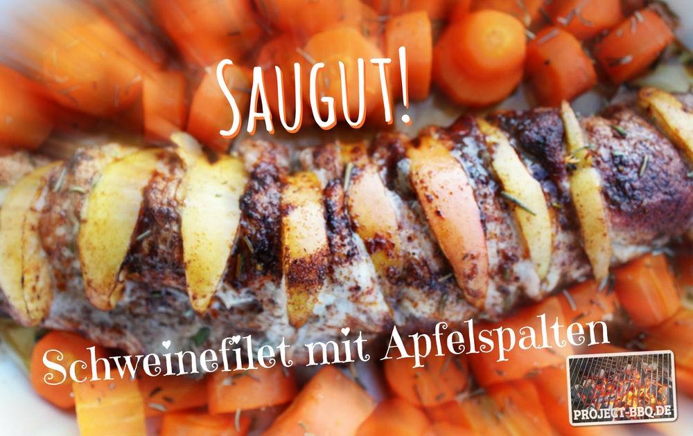 Saugut - Schweinefilet mit Apfelspalten