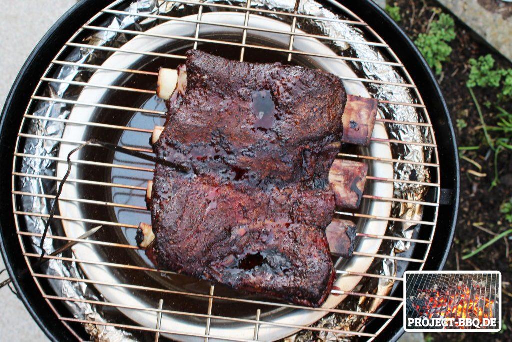 Beef Ribs nach drei Stunden