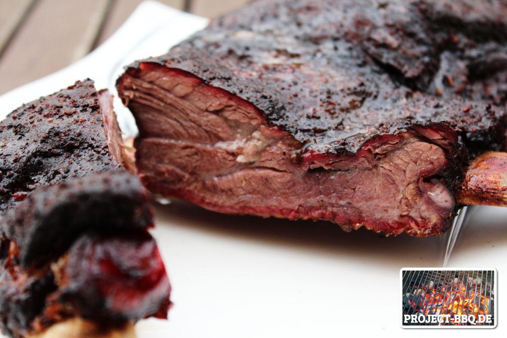 Beef Ribs im Anschnitt