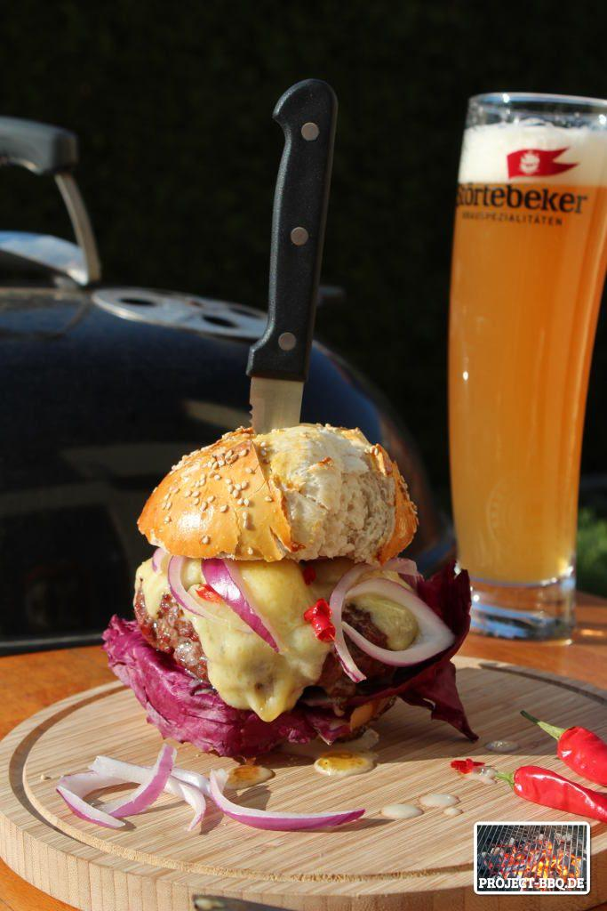 Der fertige Red Garlic Burger