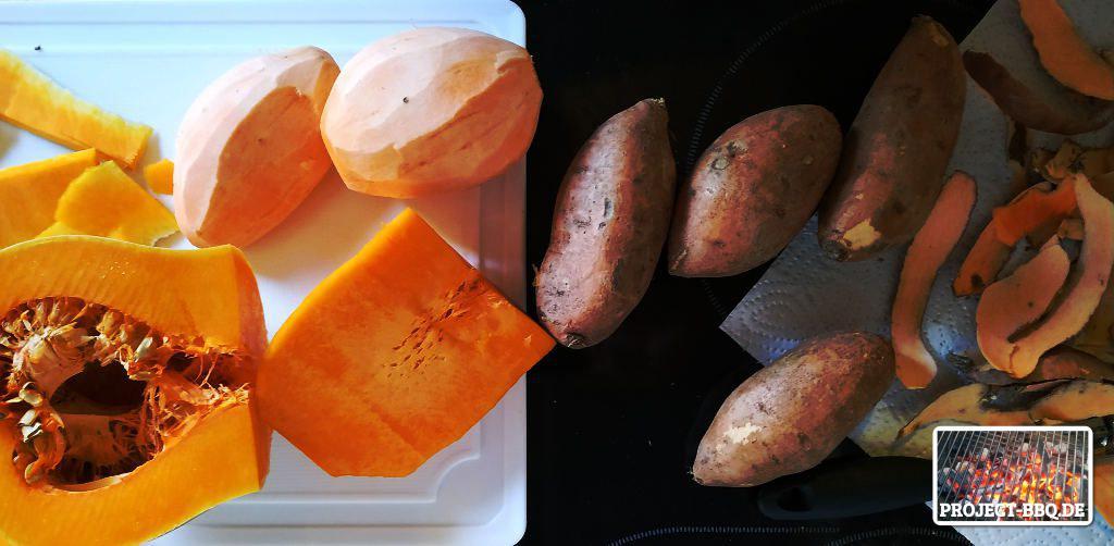 Süßkartoffeln & Kürbis