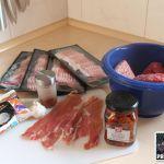 Zutaten Bacon Bomb Mediterran